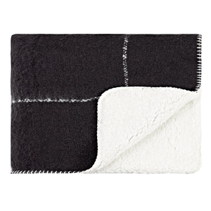Grid Sherpa Throw - Black