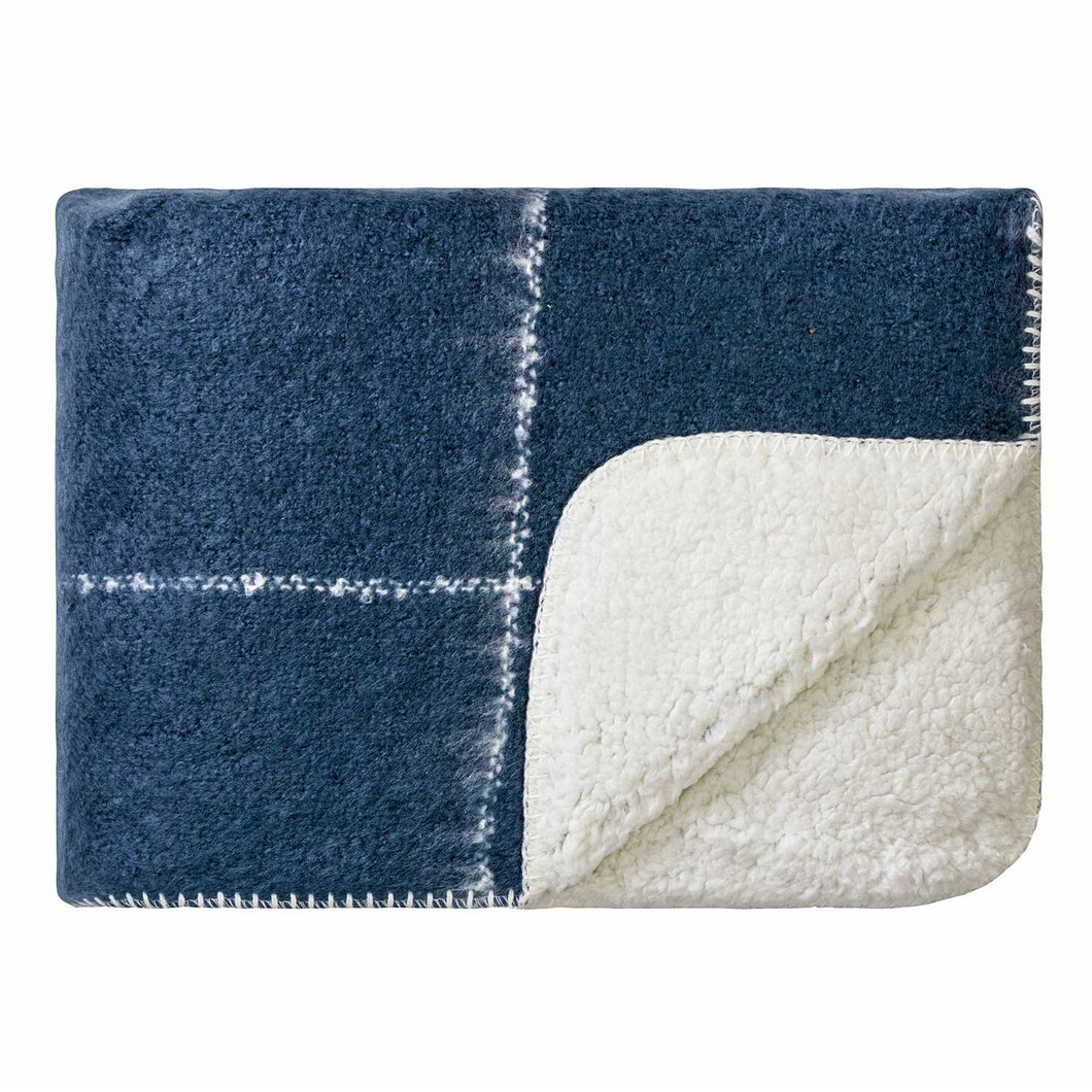 Sherpa Throw Midnight Blue