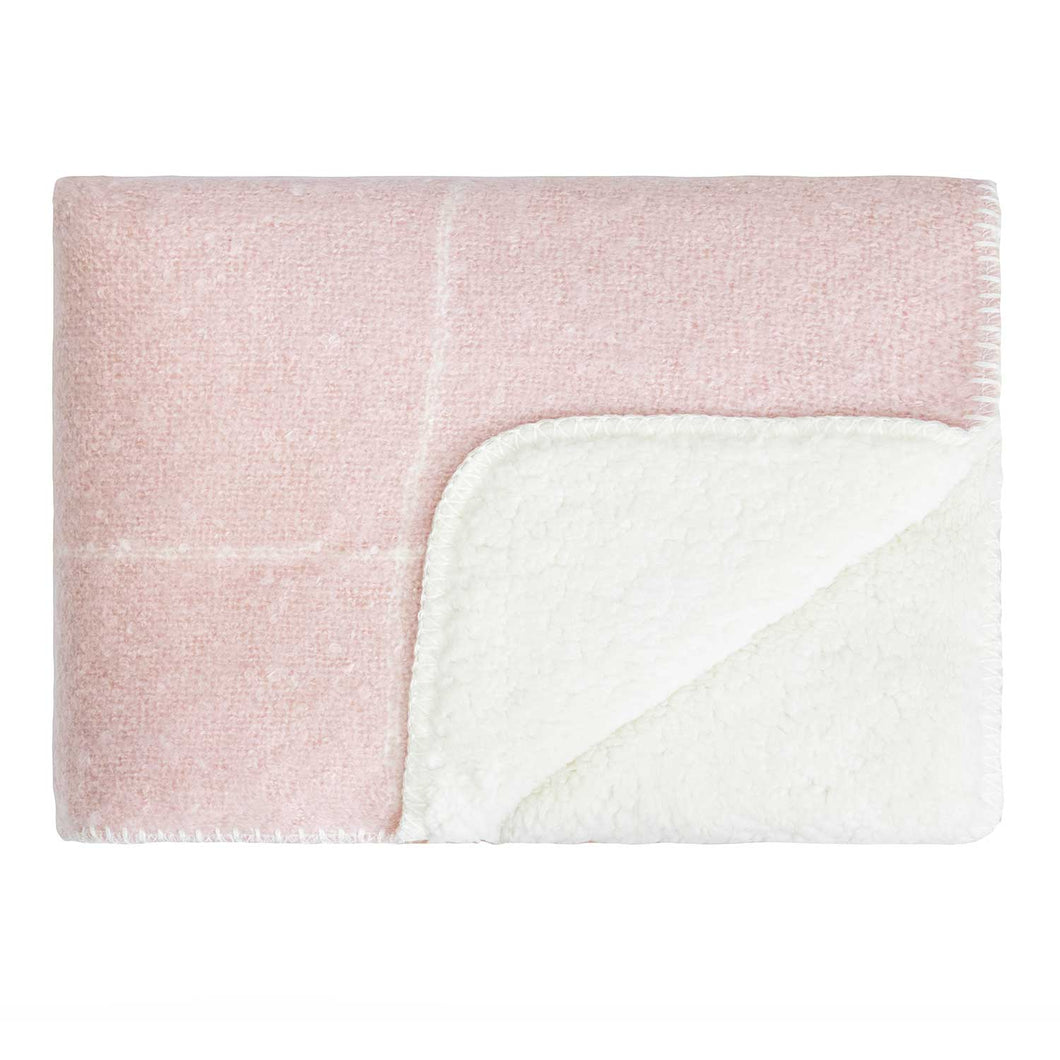 Sherpa Throw Rose Pink