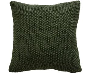 Moss Stitch Green 45x45 Cushion