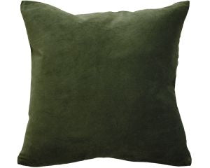 Majestic Velvet Cushion Khaki Green 50x50