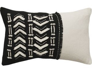 Rhythm Accent Cushion Black and Cream