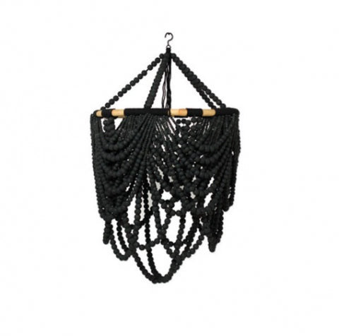 Beaded Labella Chandelier Black