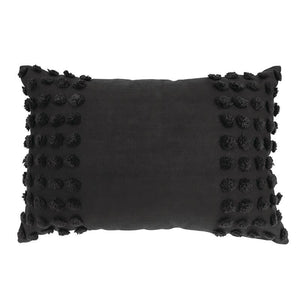 Charcoal Rect Cushion 40x60