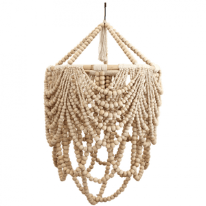 Beaded Labella Chandelier Natural