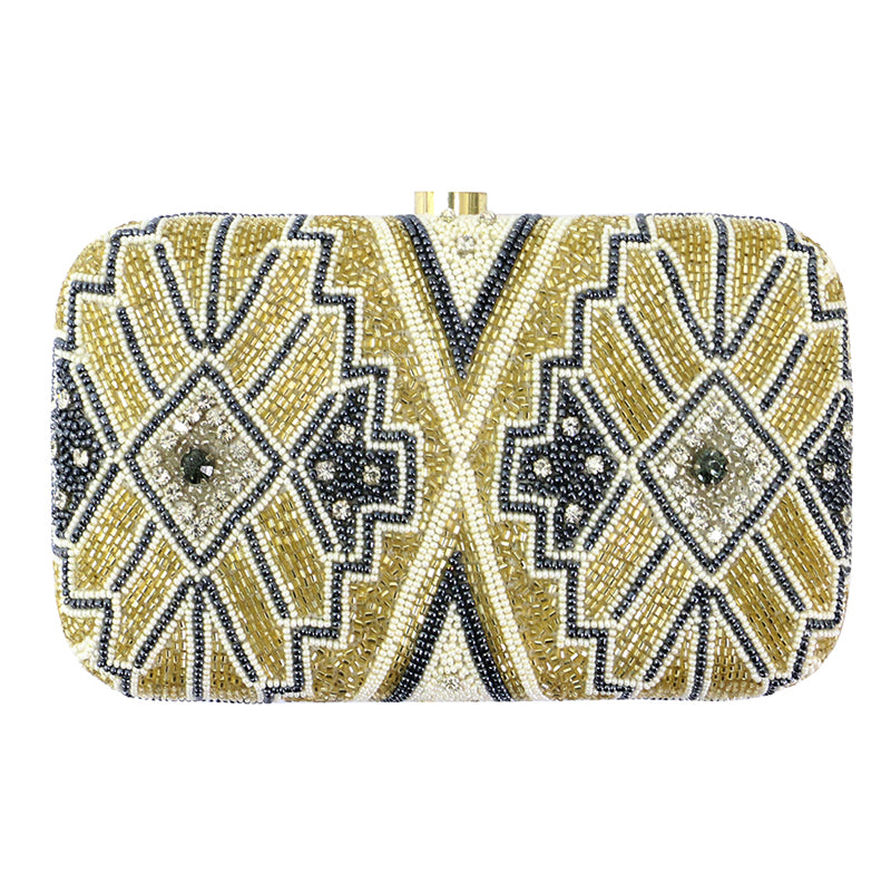 Gold and Silver Clutch