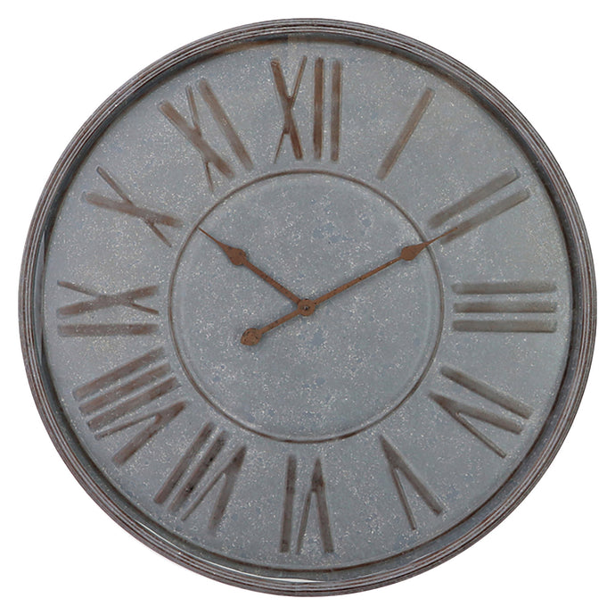Rustic Iron Wall Clock