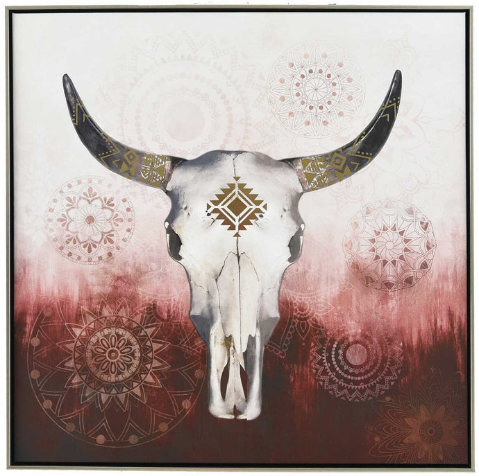 Native Skull Canvas