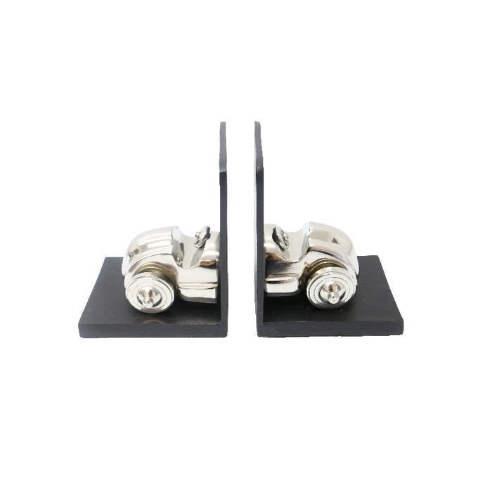 Nickel Car Bookends
