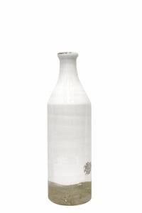 Flask vase medium antique white