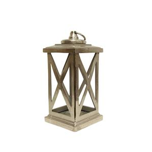 Small Cross Lantern Silver