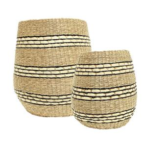 Set 2 Striped Baskets