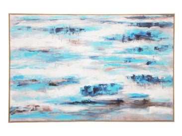 Abstract Blue Art 80x120cm