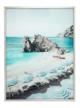 Beach Scene Tempered Glass Art