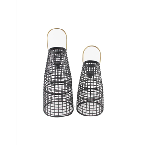 Helena LED Lantern Black Set Of Two