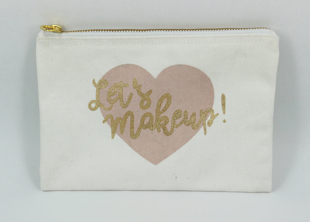 Let's Make Up Cosmetic Bag