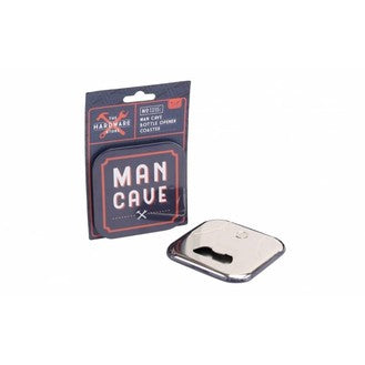 Man cave bottle opener and coaster