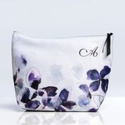 Frosted petal makeup bag