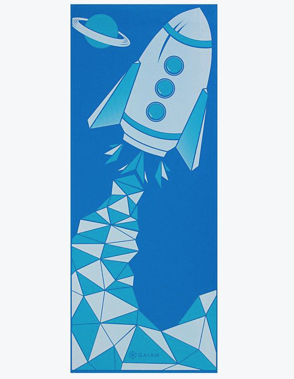 Kids rocket yoga mat