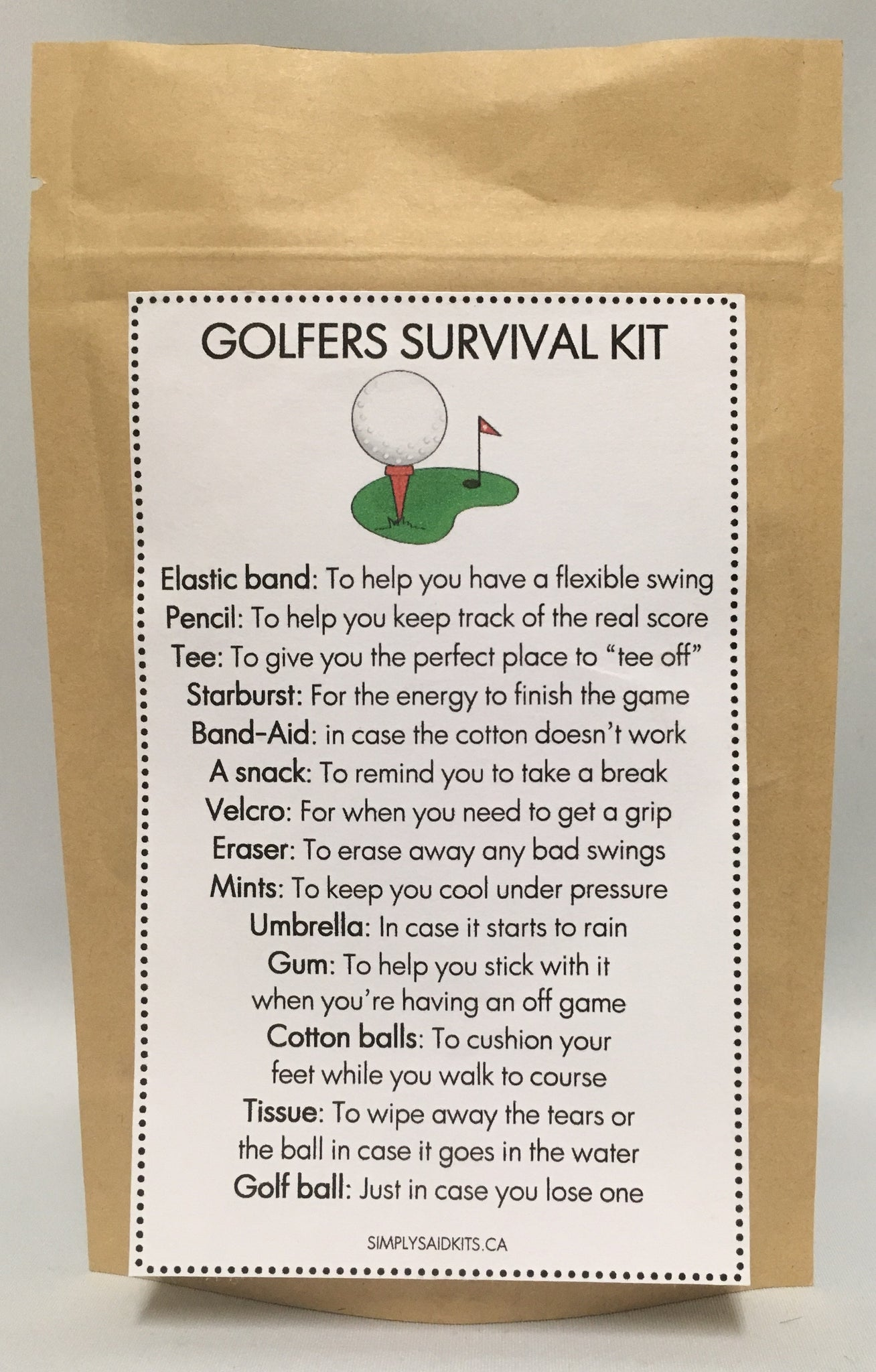 Golfer Survival Kit