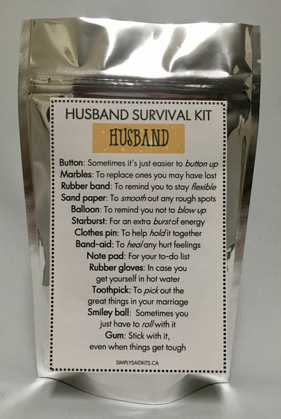 Husband's Survival Kit
