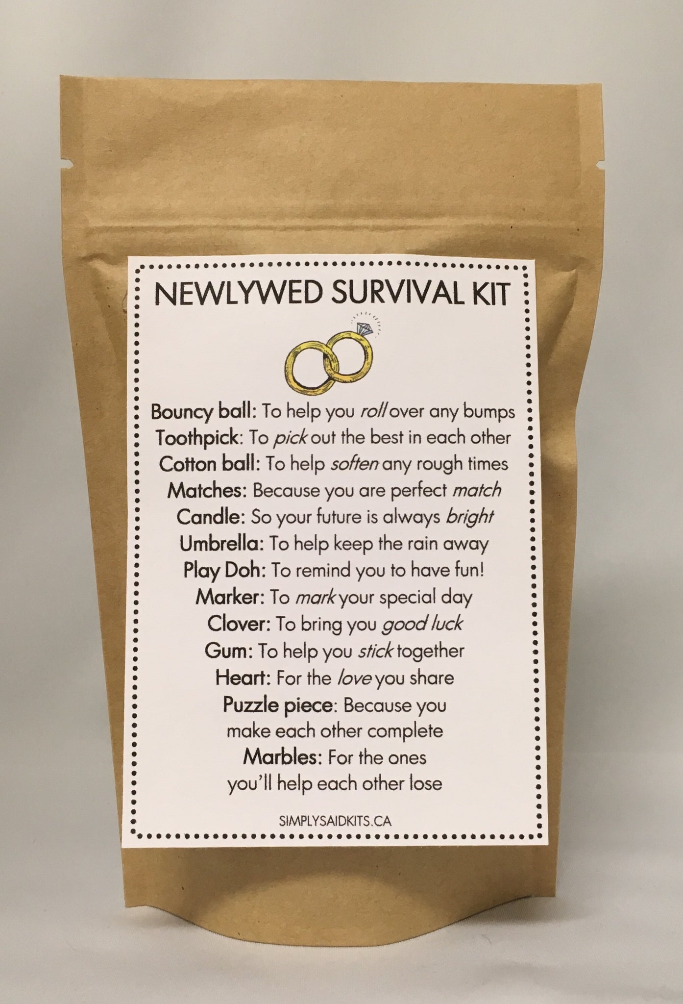 Newlywed Survival Kit