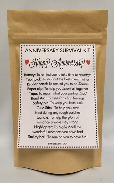 Anniversary Survival Kit