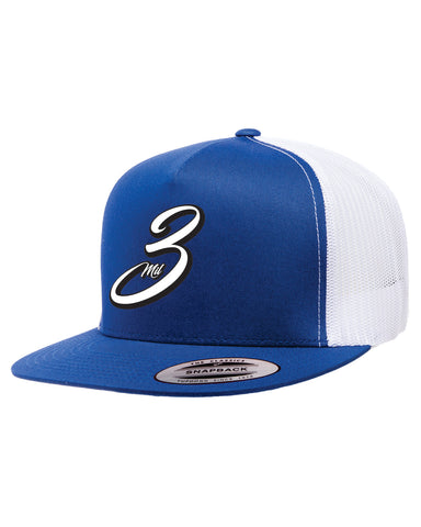 IBP 3 Mil Logo IBP logo on Blue and White Trucker Hat