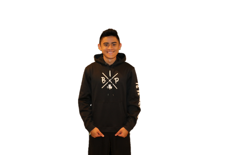 "PREMIUM DRY FIT Hoodie BLACK Sport-Tek  featuring the NEW ""X"" Logo - YOUTH"