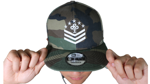 Ireland Boys Military style Camouflage 9FIFTY New Era snaback hat featuring Ireland Boys Productions Military style logo
