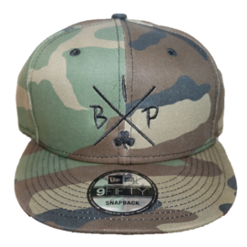 IreX logo camo merch, 8fifty new era hat