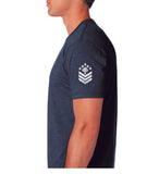 Shoulder sleeve view Ireland Boys Patriotic Military Style Logo shirt