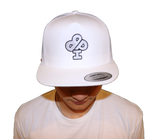 White Trucker Hat Featuring the FROST Silver Classic IBP Logo