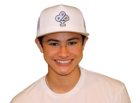 White Trucker Hat Featuring the FROST Silver IBP Logo
