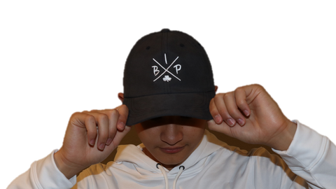 "Premium Gray Dad Hat featuring the NEW ""X"" Logo"