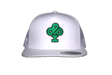 White Trucker Hat featuring GREEN classic IBP logo