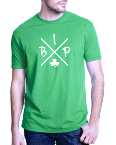 "Adult KELLY GREEN T-Shirt - short sleeve - IBP ""X""  Logo"