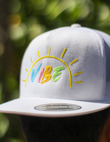 Live the VIBE lifestyle with high-quality apparel from YouTubers Ricky Ireland and Nick Ireland of Ireland Boys Productions. ft This VIBE  Trucker hat,  as seen in the viral music video VIBE. VIBE away, FLY away.