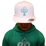 ". IBP  ""SPEED""  Logo n Green on an all White Trucker Hat"