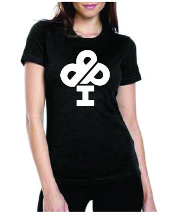 Ladies Midnight BLACK T-Shirt - short sleeve - IBP Logo (Full Front)