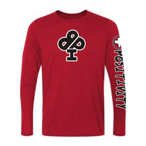 Red Long Sleeve Positivity T shirt