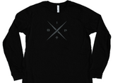 Ireland Boys Productions introduces STEALTH merch ft X 2.0 logo in Asphalt Grey printed on Bela Canvas long sleeve premium T-shirt