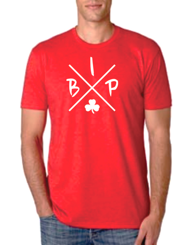 "Adult RED T-Shirt - short sleeve - IBP ""X""  Logo"