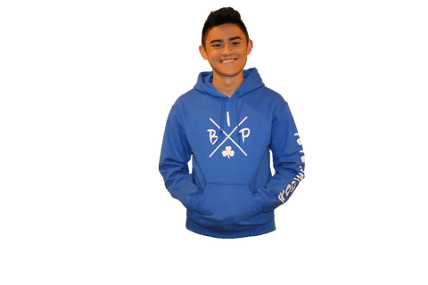 "Cotton Hoodie ROYAL BLUE  featuring the NEW  ""X"" Logo ADULT"