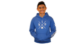 "Cotton Hoodie Royal BLUE featuring the NEW ""X"" Logo YOUTH"