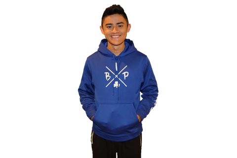 "PREMIUM DRY FIT Hoodie Royal Blue Sport-Tek  featuring the NEW ""X"" Logo YOUTH"