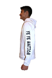 "PREMIUM DRY FIT Hoodie WHITE Sport Tek  featuring the NEW ""X"" Logo ADULT"