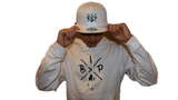 "IBP ""X"" LOGO EMBROIDERED NEW ERA 9FIFTY WHITE Flat Brim Snapback HAT"