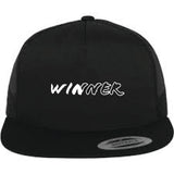 "IBP  ""WINNER"" on an all BLACK Trucker Hat"