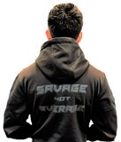 BLACKOUT - SAVAGE NOT AVERAGE Premium Dry Fit hoodie youth and adult